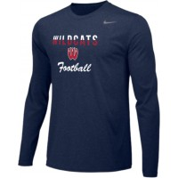 Westview Football Boosters 13: Adult-Size - Nike Team Legend Long-Sleeve Crew T-Shirt - Navy Blue