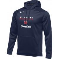 Westview Football Boosters 20: Nike Therma Men's Training Hoodie - Navy Blue