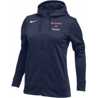 Westview Football Boosters 21: Nike Women's Therma All-Time Hoodie Full Zip - Navy Blue